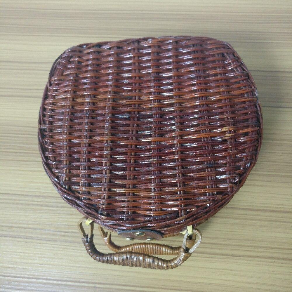 18 Summer Beach Bamboo Bag Straw Women Handbag Handmade Woven Bag Luxury Designer Tote Travel Clutch Lunch Bags snx008 30 OFF 4
