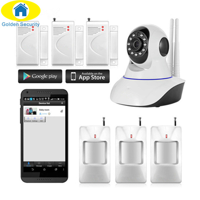 Golden Security 720P HD Wireless IP Camera Night Vision Audio Recording Network CCTV Indoor Alarm System