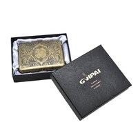 1 X Étui à Cigarettes En Métal Peut Tenir 16 pcs Cigarettes Bronze Couleur de Fumer Du Tabac Box Pocket Taille (90mm * 70mm) avec 2 Clips