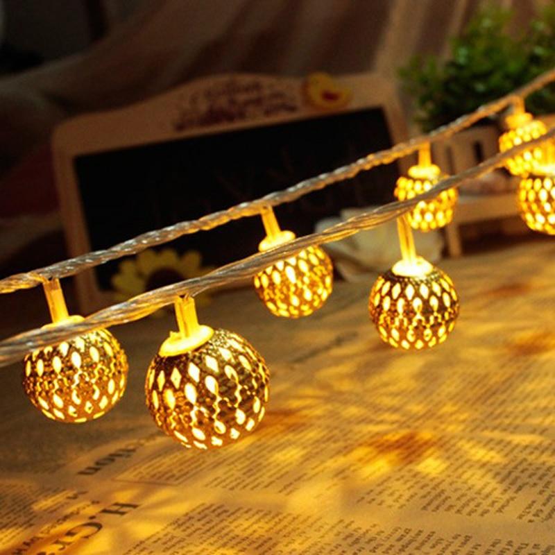 Weihnachtsbeleuchtung LED Lichtleiste 20 Lampe Kugel / Set LED Schnur - Partyartikel und Dekoration - Foto 3