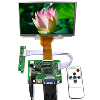 HDMI VGA 2AV lcd  Controller board VS-TY2662-V17inch 800x480 AT070TN93 EJ070NA-03A 3mm thickness lcd