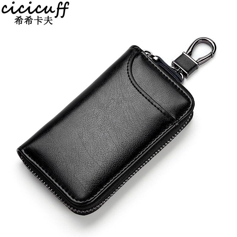 Genuine Leather KeyChain Unisex Key Bag Multifunction Organizer Wallet Holder Smart Housekeeper Car Small Key Case Keys Pouch