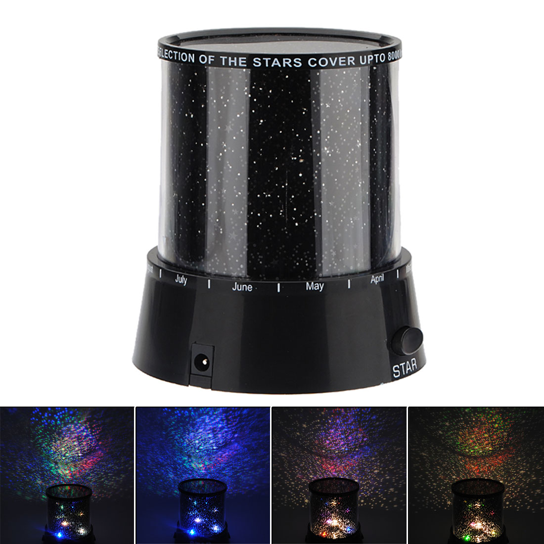 Romantic Min Stage Light Cosmos Moon Colorful Master Star Sky Universal Brightness Kid Chidren Projector Lamp Gift Present
