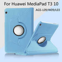 360 Degrés Rotation Housse étui pour huawei MediaPad T3 10 AGS-L03 AGS-L09 AGS-W09 9.6 pouces Tablette