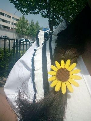 24 unids/lote corea girasol handmade hairband del pelo del tocado de la manera c