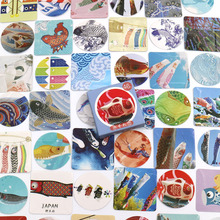 46pcs/box Creative Fish Stickers Hand Account Decoration Stickers Diy Diary Planner Decoration Map Scrapbook Stationery