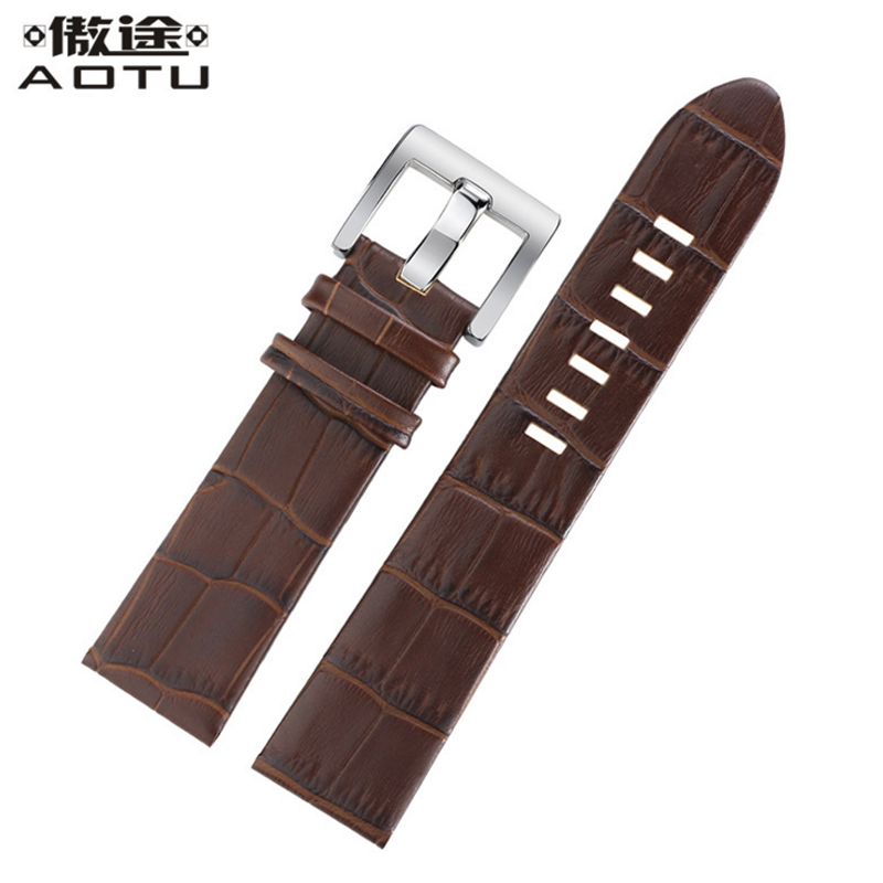 цена на Genuine Leather Watch Straps For Montblanc TIMEWALKER 9670 22mm Men Watchbands Leather Watch Belt Pin Buckle Retro Bracelet