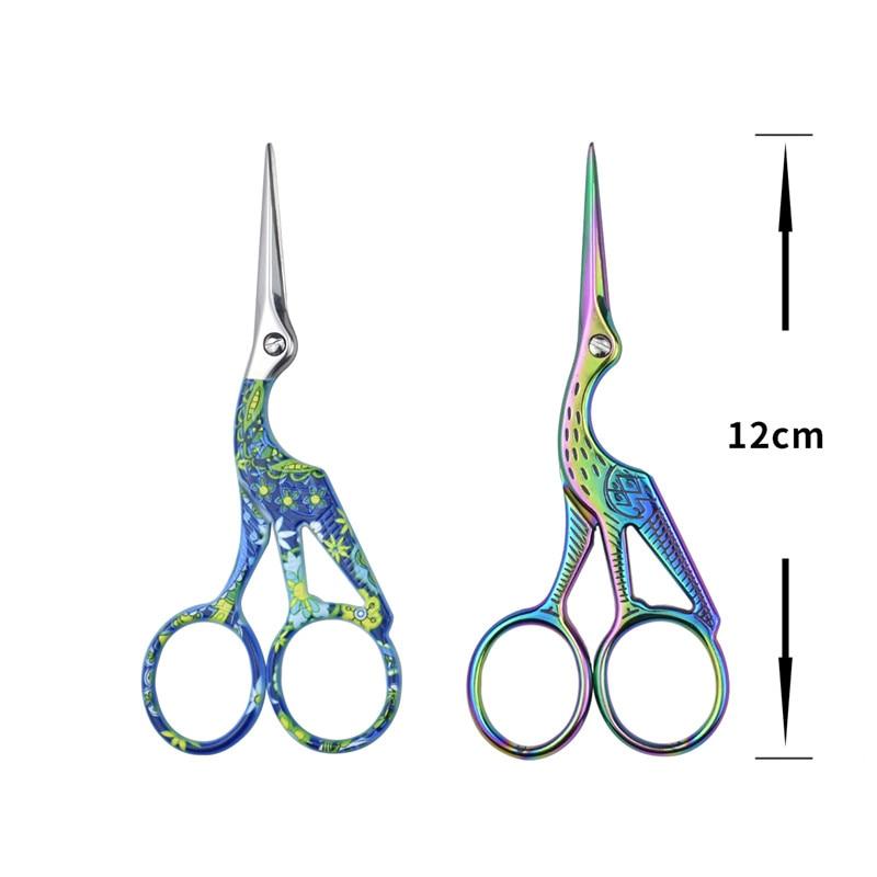 Looen Embroidery Scissor Crane Shaped Cross Stitch Tailor Scissor Retro European Sewing Handicraft DIY Home Tool Accessories (1)