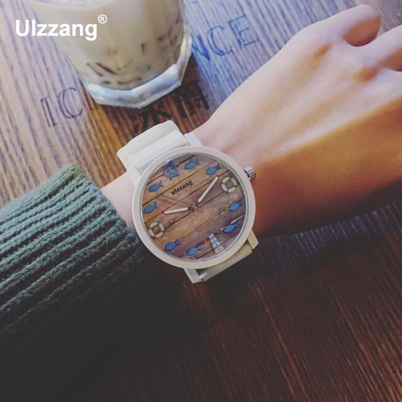 2018 Cute Fruit Fish Flower Soft Rubber Soft Quartz Wrist Watch Wristwatches For Men Women Studetns Black White