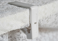 Popular 8Pcs Cover Cloth Tablecloth Clip Table Spring Loaded Clamp Holder Plastic