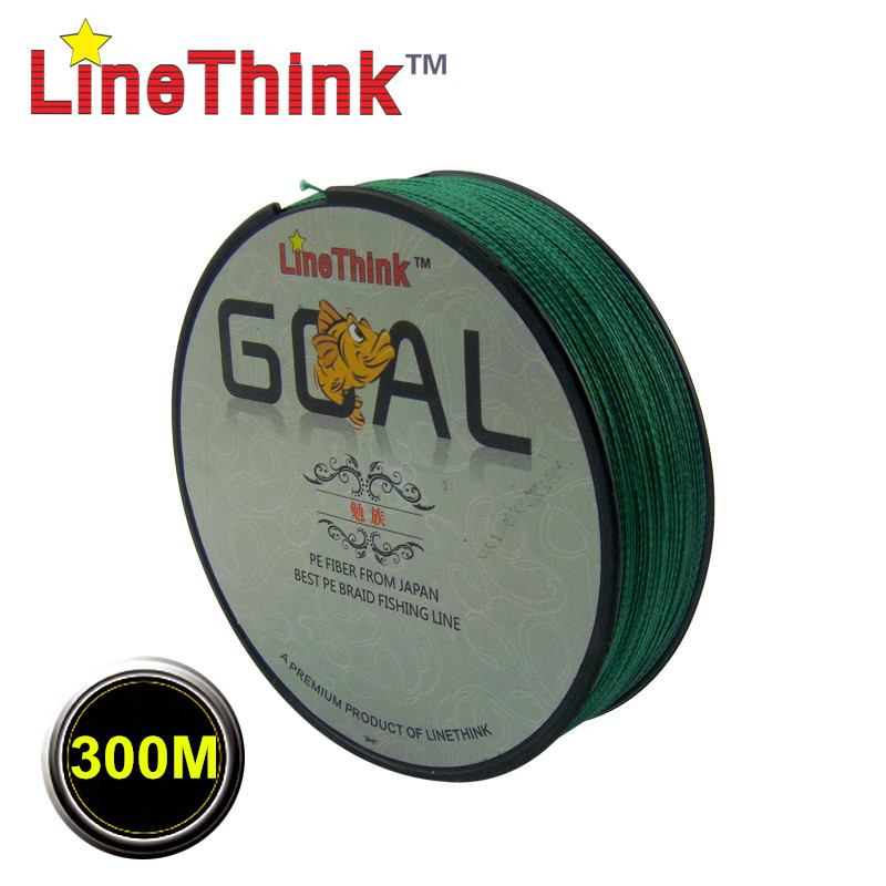 300 m marca LineThink GOAL Japón multifilamento PE trenzada línea de pesca 6LB-120LB envío gratis