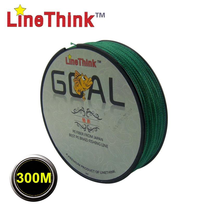 300M Brand LineThink GOAL Japan Multifilament PE Braided Fishing Line 6LB-120LB Free Shipping цена