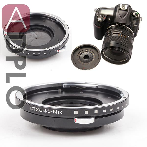 2015.12 ! Adjustable Aperture Suit for Contax 645 Mount Lens to Nikon(D)SLR Camera Adapter