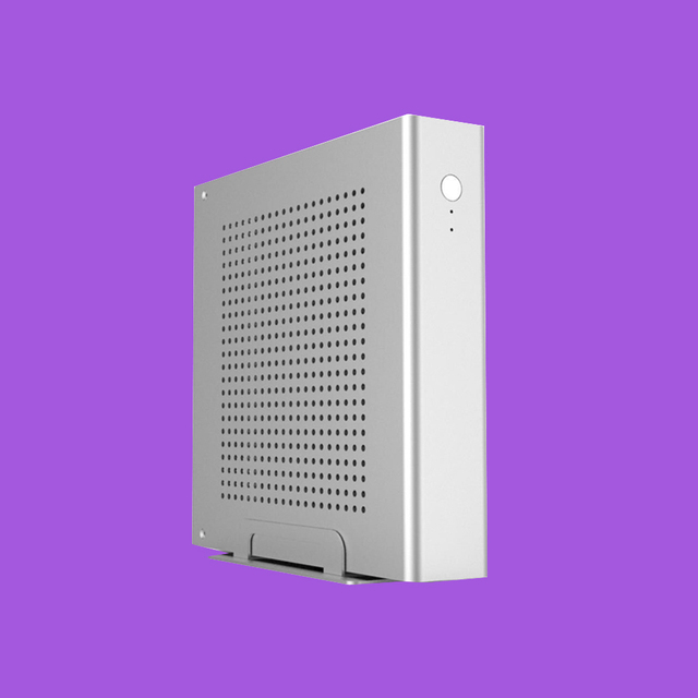 ICELEMON Mini Tower Full Aluminum Case Supports 170*170(mm) thin mini ITX Motherboard, 1*2.5' HDD/SSD Mini PC case desktop