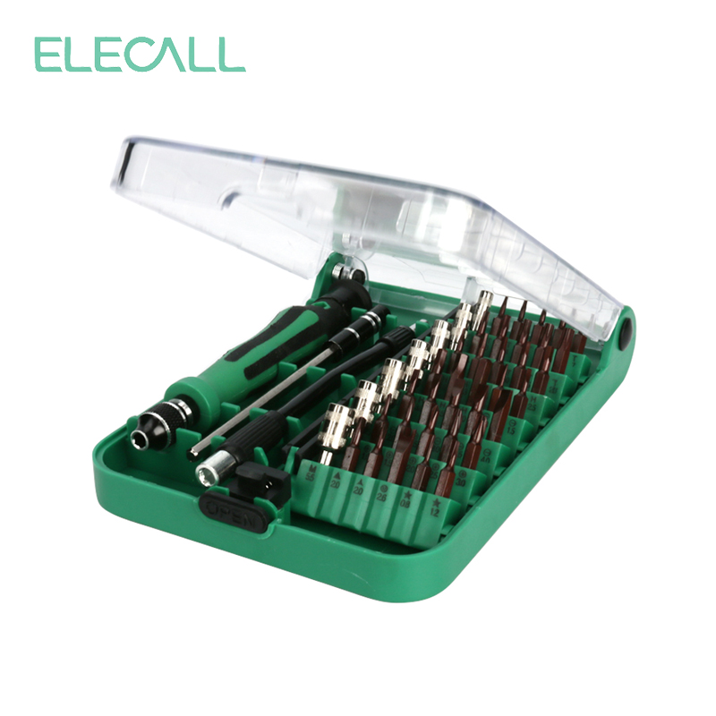 ELECALL 45in1 multifunctionele schroevendraaier set multitool kit torx schroevendraaier kit reparatie tools voor iphone laptop tablet horloge