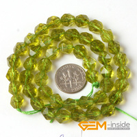 8mm Round Faceted Green Peridot Beads Green Agate Stone Beads DIY Beads For Jewelry Making Beads