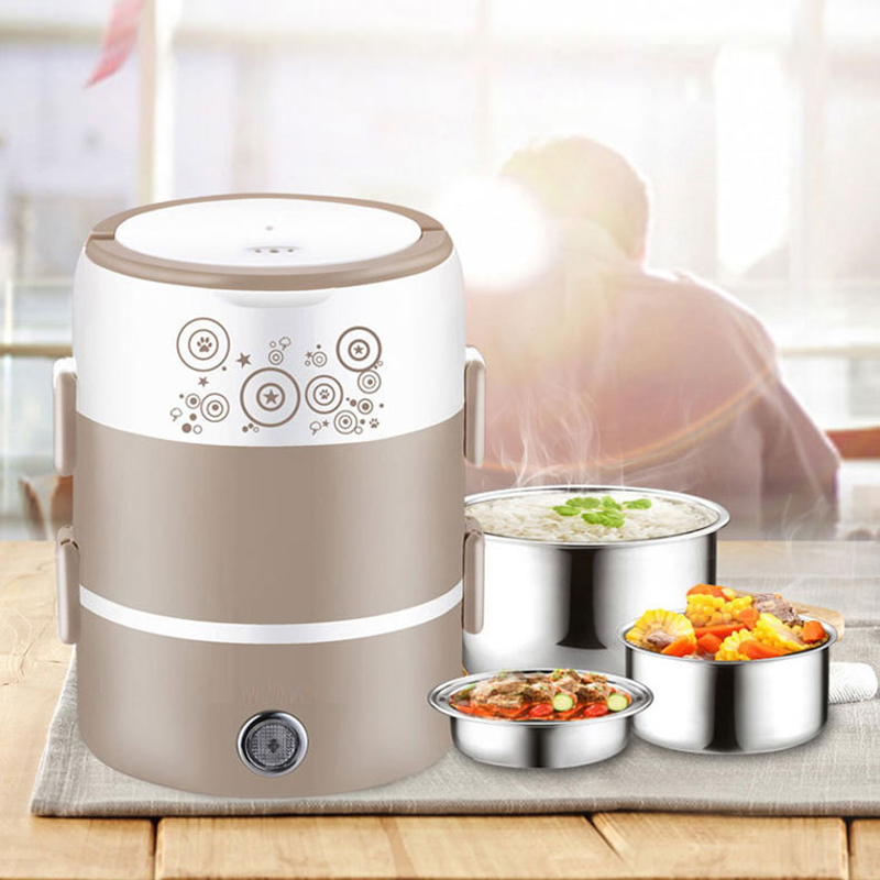 2-3-слойный Электрический Ланч-бокс с автоматическим выключением 220В нагреватель из нержавеющей стали подогреватель для пищевых продуктов т...