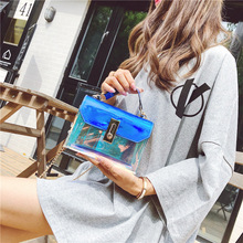 Fashion  handbags Messenger bag PVC handbag buckle design Messenger bag laser shoulder bag