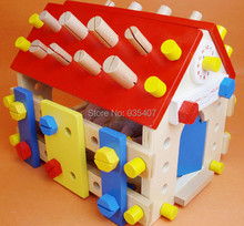 New wooden toy Blocks Wooden removable screws Room Baby