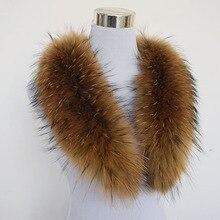 2017 Winter Scarf Women Adult Fashion Solid Hot ! 80cm Large True 100% Raccoon Fur Collar Real Genuine Shawl Wrap Great Qs-103