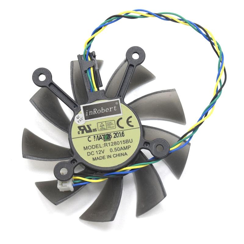 75mm 4pin Radeon HD 7770 GPU Refroidisseur Ventilateur Pour ASUS GTX 560Ti 650 GTX550Ti 250X Radeon HD7770 HD7850 Graphique carte Ventilateurs De Refroidissement