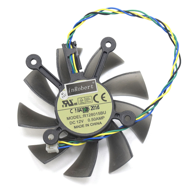US $7 12 25% OFF|75mm 4pin Radeon HD 7770 GTX750 GPU Cooler Fan For ASUS  GTX 560Ti 650 GTX550Ti 250X Radeon HD7770 HD7850 Graphics Card Cooling-in