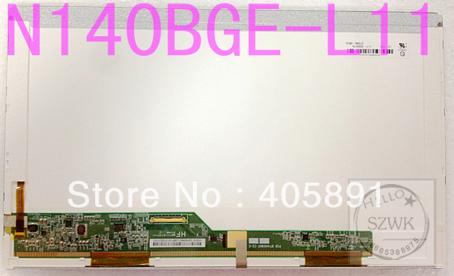 Marca nueva Pantalla de 14.0 pulgadas LED LTN140AT02 LP140WH4 LP140WH1 N140BGE-L21 B140XW01 LTN140AT26 LTN140AT16 LTN140AT07 panel lcd LED