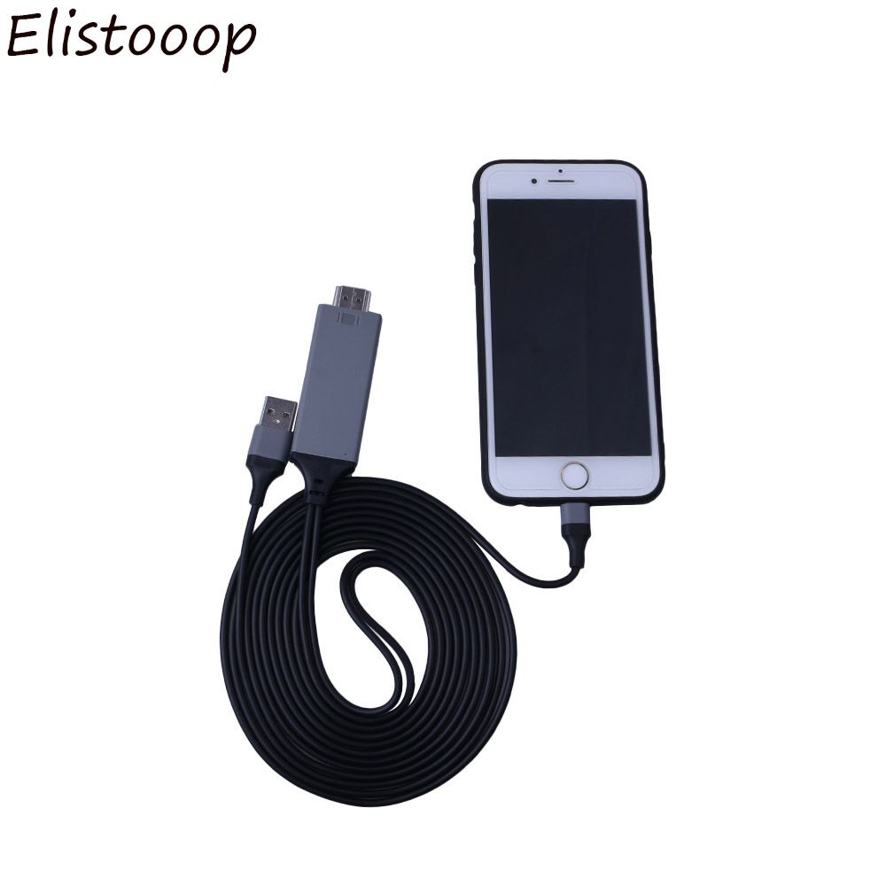 Lightning to 1080p 8Pin HDMI HDTV AV TV Adapter Cable Cord for iPhone 6 7 8 X
