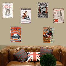 Tiger Metal Sign Retro Esso Decor Tin Plaque Gasoline Plate American Style Vintage Car Garage Rectangle Poster