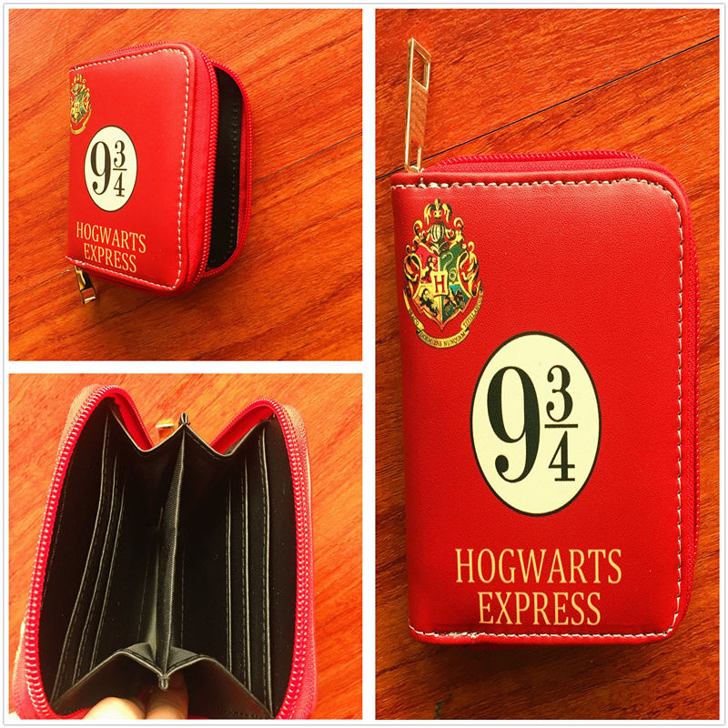 Movie Harry Potter Hogwarts express wallet new cards holders short PU wallets with zipper W727