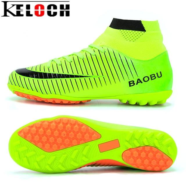Keloch Misturar Chuteiras Cor Homens Alto Tornozelo Botas de Futebol  Não-deslizamento Impermeável Tênis De 9ad64830f0044