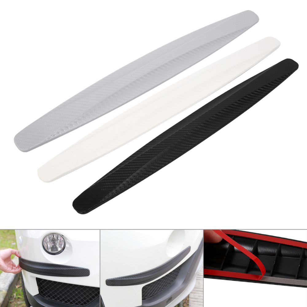 1 Pair Car Bumper Protector Corner Guard Anti Scratch Strips Sticker Protection Body Protector Moldings Valance Chin car styling-in Styling Mouldings from Automobiles & Motorcycles