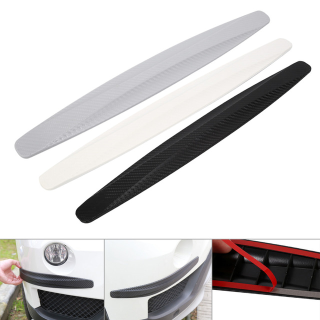 1Pair Carbon Fiber Car Bumper Protector Corner Guard Anti Scratch Strips Sticker Protection Body Protector Moldings Valance