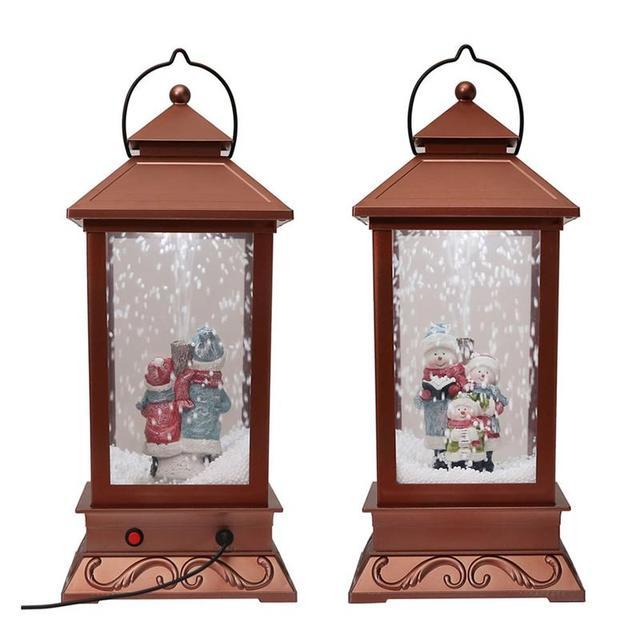 New Year Roman Inc Snow Globe Water Globe Music Box We Wish You a Merry Christmas  Led Christmas Lights Outdoor Navidad - New Year Roman Inc Snow Globe Water Globe Music Box We Wish You A
