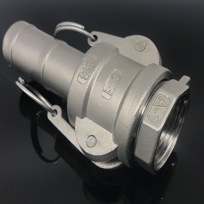 Quick Connect Hose Tail Barb 304 Stianless Steel Type C+A Socket Camlock Fitting Cam And Groove Coupler Inside The Wire Joint
