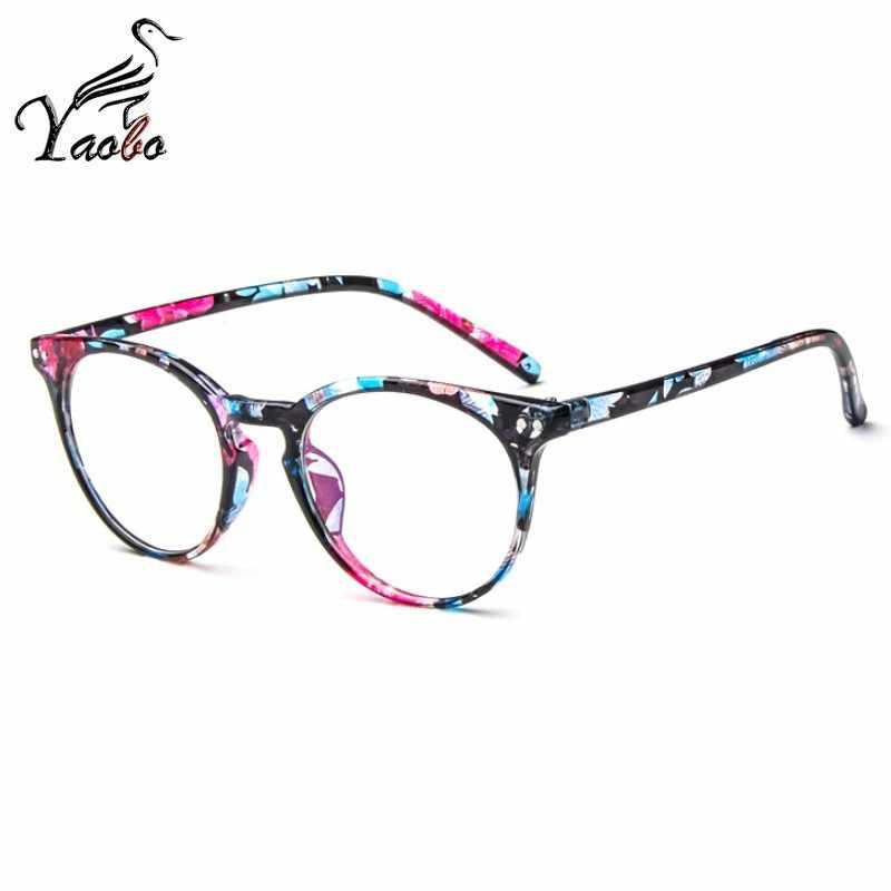 código promocional 714e4 00fb8 Nuevo marco de gafas a la moda para mujer, montura de gafas negras para  hombre, montura de gafas transparentes redondas Vintage, montura de gafas  ...