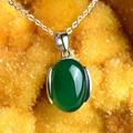 Стерлингового Серебра 925 Пробы ожерелье зеленый Чешские природные полудрагоценные камни Красный зеленый Агат Кулон нефрит женщины Ювелирные Изделия Корейский