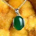 925 Sterling Silver necklace green Bohemian natural semi-precious stones Red green Agate Pendant jade women Jewelry Korean