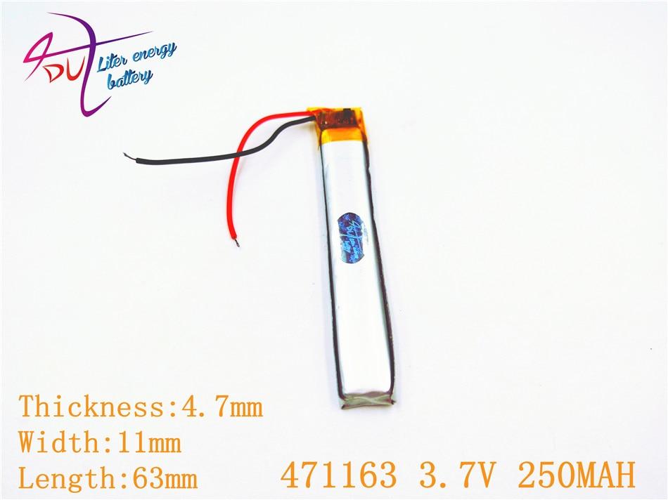 Bluetooth 3,7 V Mp4 Mp3 Dvd Modell Spielzeug Durchblutung Aktivieren Und Sehnen Und Knochen StäRken 250 Mah 471163 501165 Plib; Polymer Lithium-ion/li-ion Batterie Für Gps Mp5