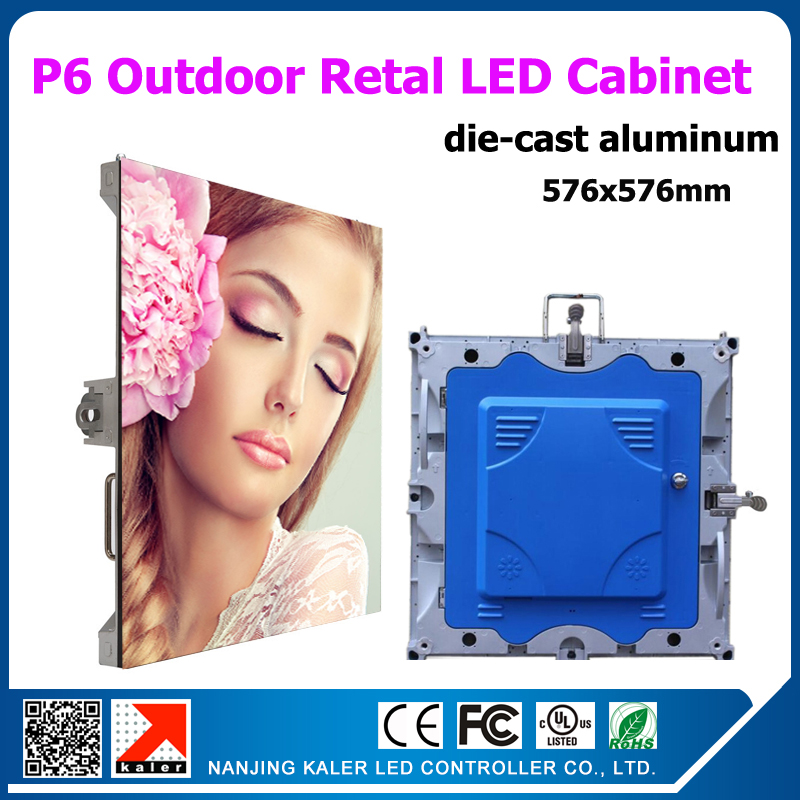 TEEHO Outdoor Rental Led Display Cabinet 576x576mm P6 Outdoor Die-cast Aluminum Cabinets For Outdoor Rental Led Video Wall