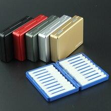 Elektronik sigara kartuşu iqos için evrensel sigara durumda taşınabilir metal flip depolama sigara durumda iqos 2.4 artı