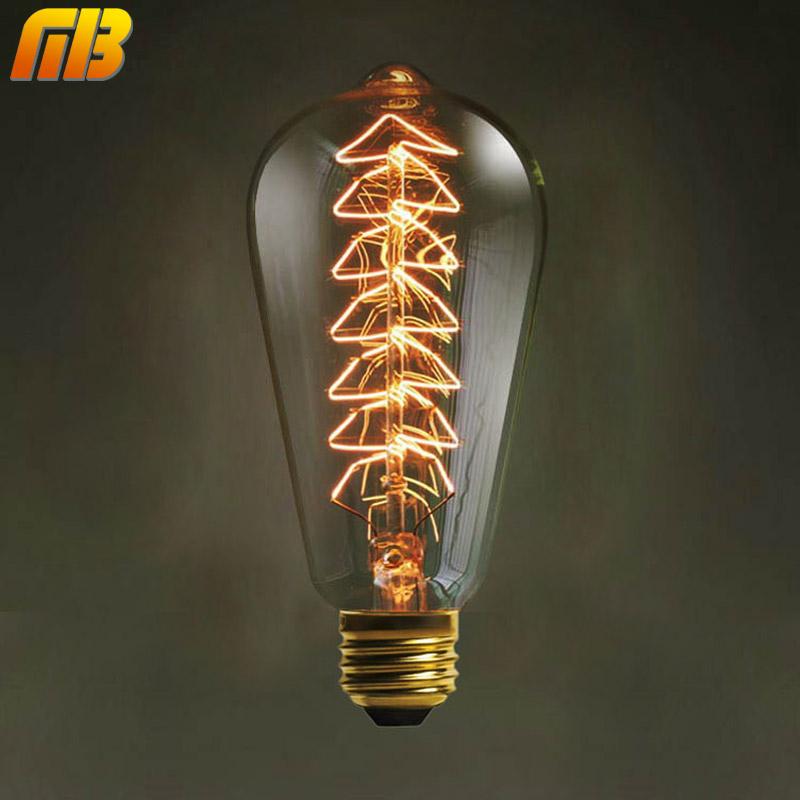 vintage de edison bombillas e v v rbol de navidad bombillas w