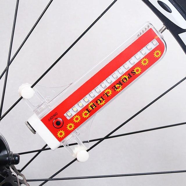 Bisiklet Tekerlek Işık 32 Renkli Led Bisiklet Bisiklet Sinyal Lambası Uyarı Fener Konuştu 32 Desenler Üzerinde/kapalı Anahtarı hareketi sensör