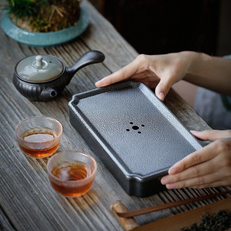 TANGPIN iron tea tray tea table handmade pot holder kung fu tea accessories