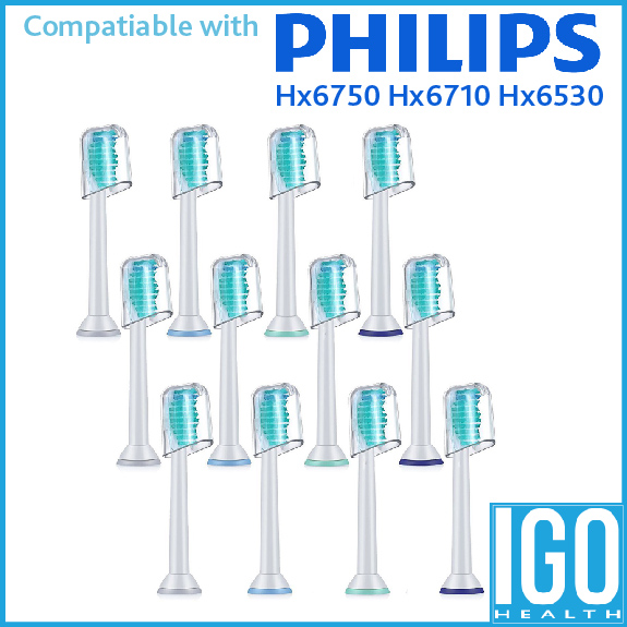 12 packs Philips Sonicare Healthywhite Generic Toothbrush Replacement for Proresults Easyclean Hx6750 Hx6710 Hx6530 Heads 50pcs new uv germicidal sanitizer replacement bulb for philips sonicare hx6150 hx6160 hx7990 hx6972 hx6011 hx6711 hx6932 hx6921