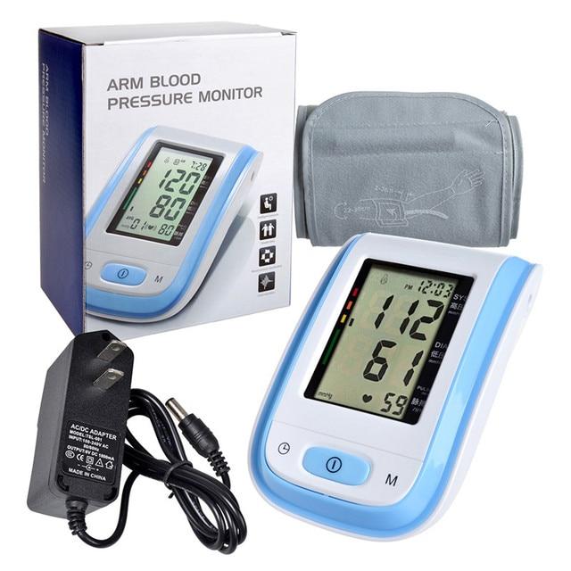 Health Care tonometer Blood Pressure Meter Arm Blood Pressure Monitor tensiometro digital Sphygmomanometer With Adapter