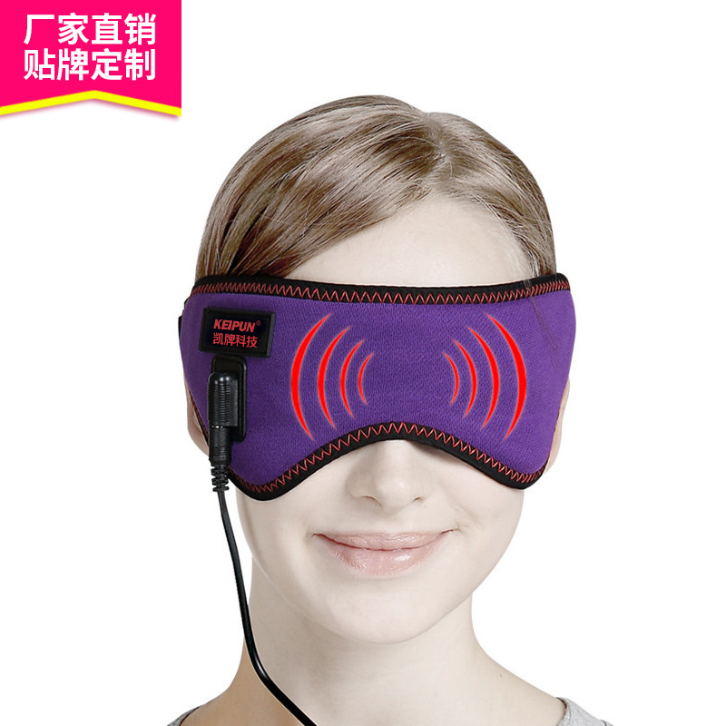 Hot selling The rainbow smart wearable eye instrumentUSB Interface carbon fiber far infrared heating eye mask free shipping free shipping new air pressure eye massager with mp3 6 functions dispel eye bags eye magnetic far infrared heating eye care