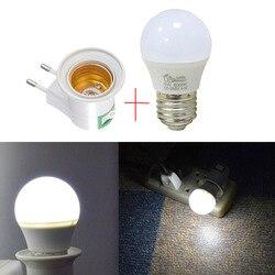 E27 lumière de secours lampe de nuit éclairage à la maison LED veilleuse ue Plug lampe de chevet murale 5W économe en énergie