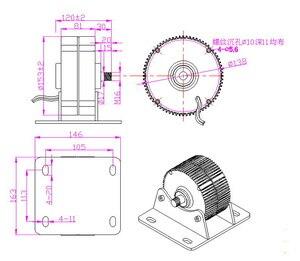 Image 4 - Генератор ветряных турбин, Низкочастотный генератор с постоянным магнитом на выходе, 300 Вт, 400 Вт, 12 В/24 В/48 В, низкочастотный, Новое поступление
