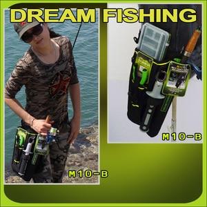 Image 4 - Сумка для рыбалки Dream Fishing 19x6x33 см + футляр для приманки 1200D, нейлоновая поясная сумка для ног, держатель для удочки, инструменты, чехол для хранения, Pesca Bolsa Peche